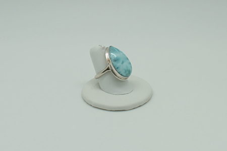 Larimar Ring Rectangle #3070 zoom 1