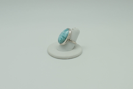 Larimar Ring Rectangle #3070 zoom 2