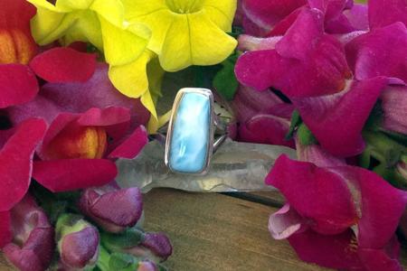 Larimar Rectangle Ring #3071