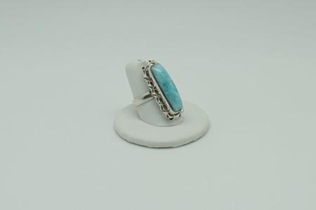 Larimar Ring Rectangle #3072 zoom 1