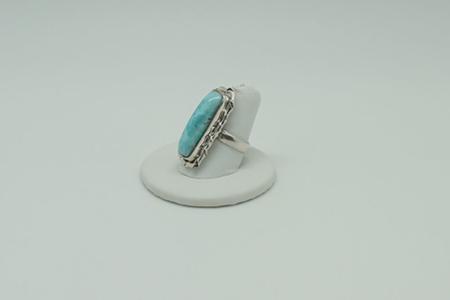 Larimar Ring Rectangle #3072 zoom 2