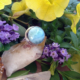 Larimar Round Sterling Silver Ring #3076