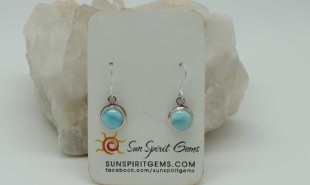 Larimar Earrings Small Round zoom