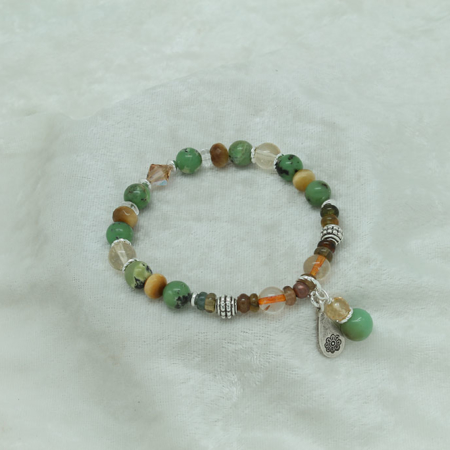 Chrysoprase, Citrine, Tiger Eye Bracelet #3093