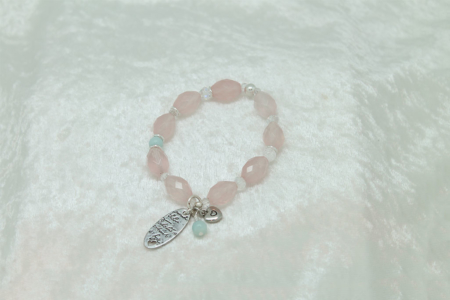 The love of Rose Quartz Bracelet #3105