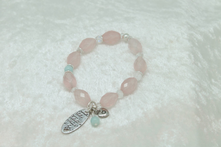 The love of Rose Quartz Bracelet #3105 zoom