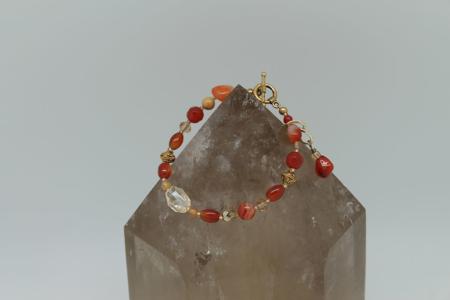 Sacral and Solar Plexus Bracelet #3109 Hanging