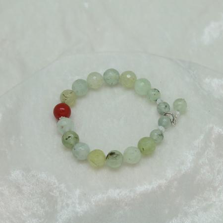 Prehnite & Carnelian Bracelet #3125
