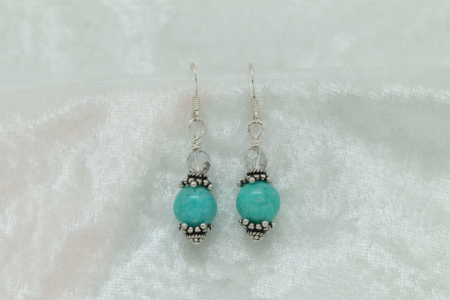 Amazonite Sterling Silver Earrings #3153