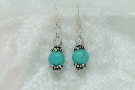 Amazonite Sterling Silver Earrings #3153 zoom