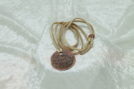 Love Beyond Moon & Stars Necklace #3163 Front