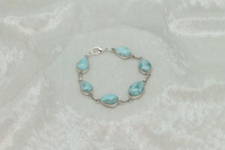 Larimar Goddess 6 Stone Bracelet #3165