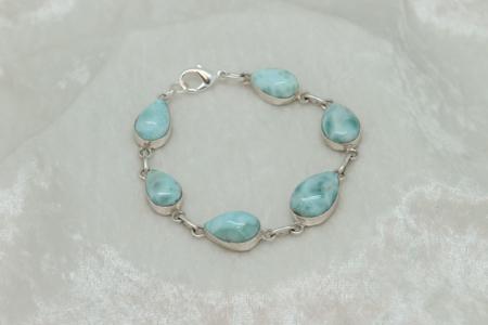 Larimar Goddess 6 Stone Bracelet #3165 zoom1