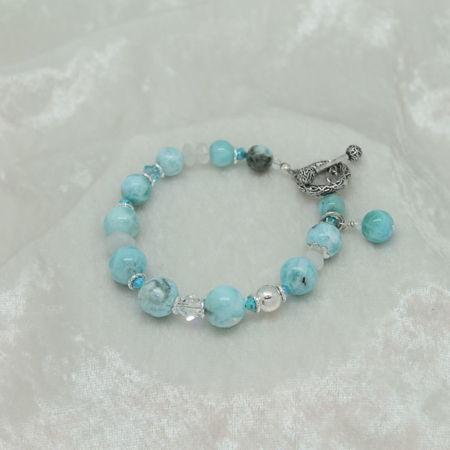 Larimar Under the Sea Bracelet #3166