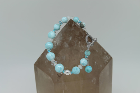 Larimar Under the Sea Bracelet #3166 zoom