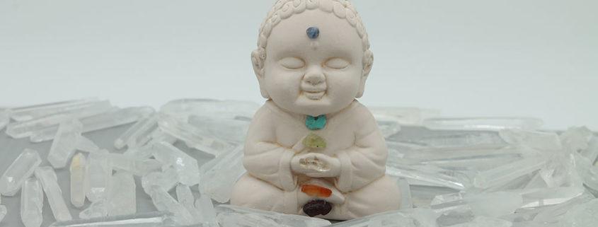 little buddha chakras statues