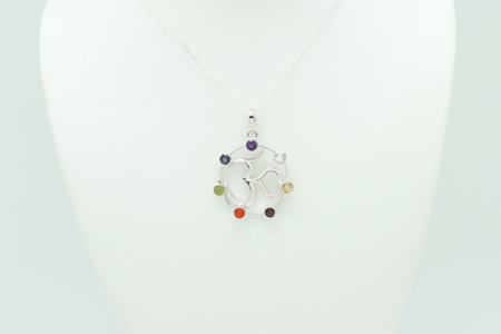 OM Chakra Necklace #3289 zoom