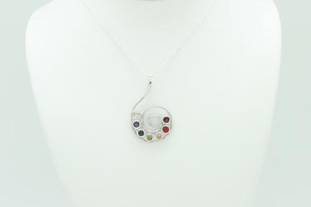 Chakra Swirl Necklace #3290 zoom