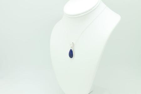 Lapis Pendant Necklace #3293 Left Side View