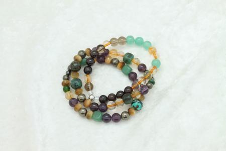 Money & Abundance Bracelet #3343 stackable
