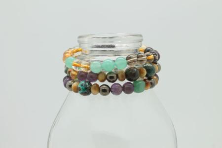 Money & Abundance Bracelet #3343 stackable zoom