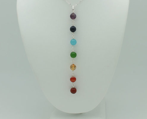 All Seven Chakras Necklace #3368 zoom