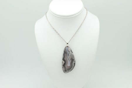 Botswana Agate Necklace #85