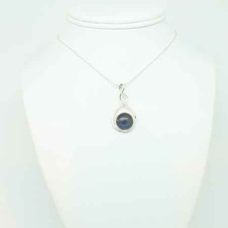 Blue Green Chalcedony Necklace #2980