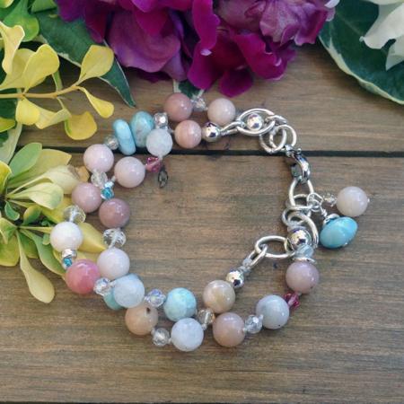 Tranquil Bliss Peruvian Opals Bracelet #3092