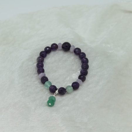 Amethyst Fluorite Bracelet #3114