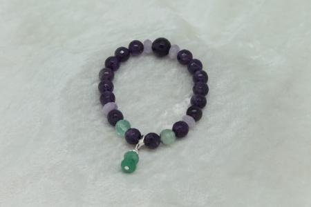 Amethyst Fluorite Bracelet #3114 zoom