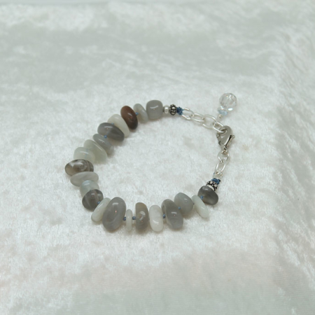 Gray Moonstone Journey Bracelet #3117