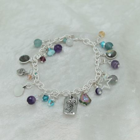 Gemstone Charm Bracelet #3133