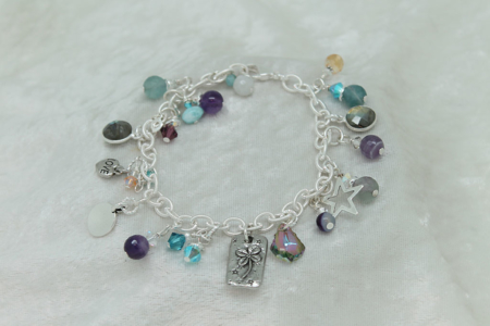 Gemstone Charm Bracelet #3133 zoom