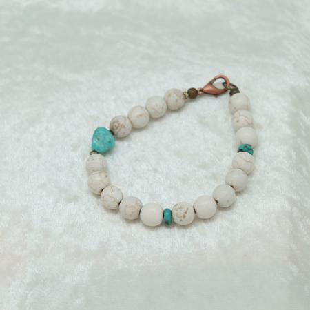 Men's Howlite Turquoise Bracelet #3142