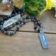 Chalcedony Pendant Lolite Beaded Necklace #3306