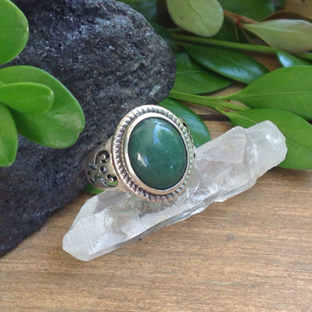 Green Aventurine Ring #1244