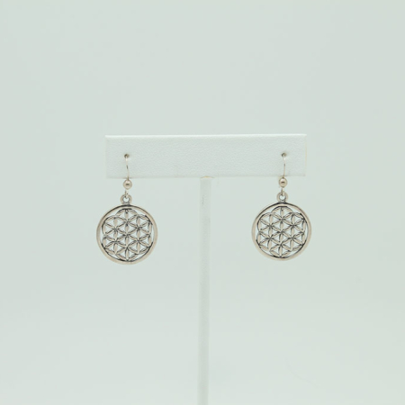 Sterling Silver Sacred Circle of Geometry Earrings #3257