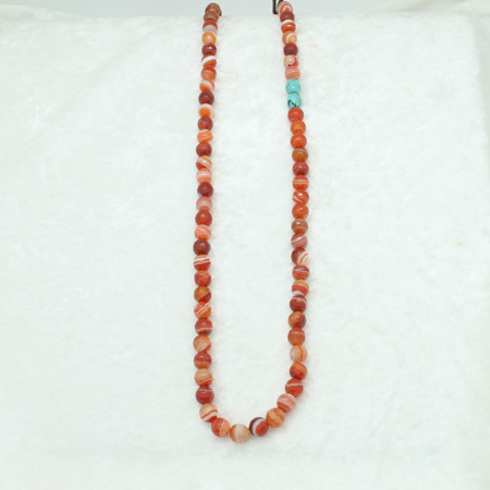 Carnelian Turquoise Cord Necklace #3308