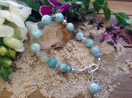 Larimar Moonstone Bracelet #3323