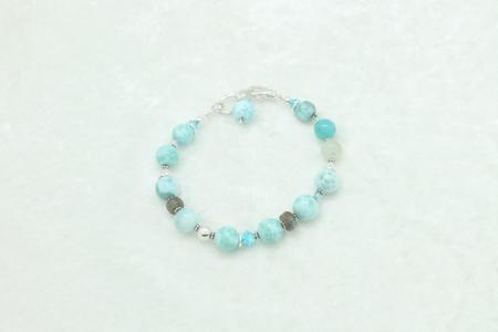 Larimar Moonstone Bracelet #3323 zoom