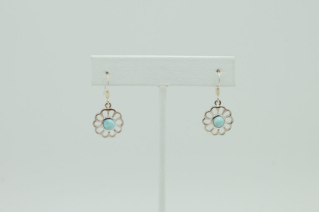 Larimar Daisy Flower Earrings #3406 zoom
