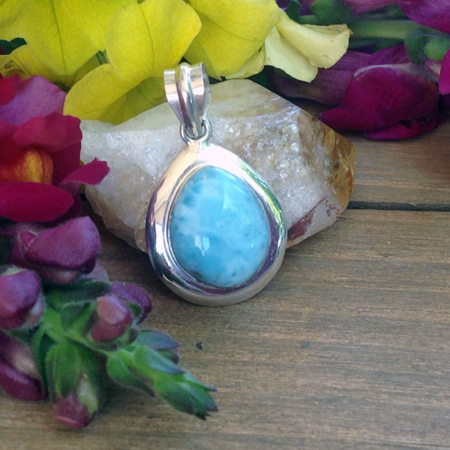 Larimar Small Tear Drop Pendant