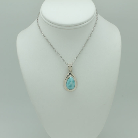 Larimar Small Tear Drop Pendant #3417