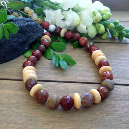 Red Jasper Grounding Necklace #3431