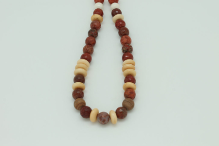 Red Jasper Grounding Necklace #3431 zoom