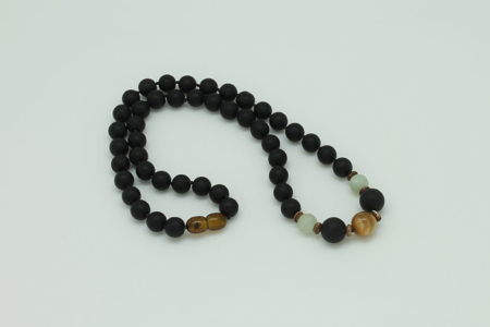 Tiger Eye Protection Necklace #3432 view zoom