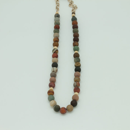 Fancy Jasper Tranquility Necklace #3433
