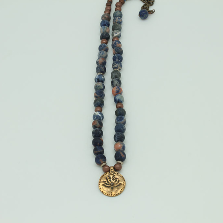 Sodalite Amulet Necklace #3436