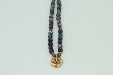 Sodalite Amulet Necklace #3436 zoom